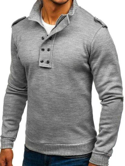 Bolf Herren Pullover Grau  1132