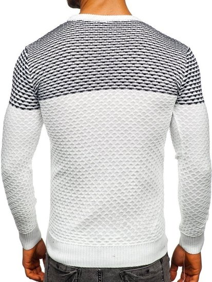 Bolf Herren Pullover Weiß  328