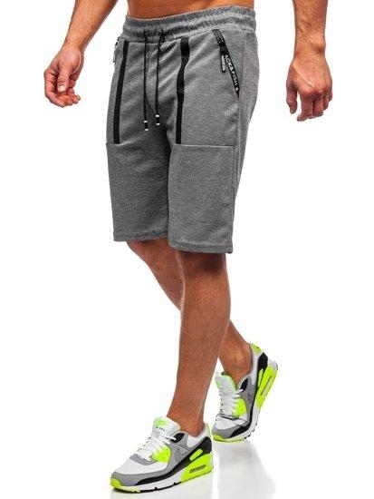 Bolf Herren Shorts Badehose Grau  JX879