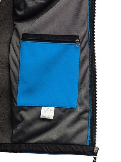 Bolf Herren Softshell Jacke Hellblau  T019