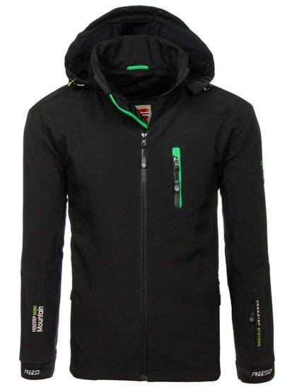 Bolf Herren Softshell Jacke Schwarz-Grün  P135-A