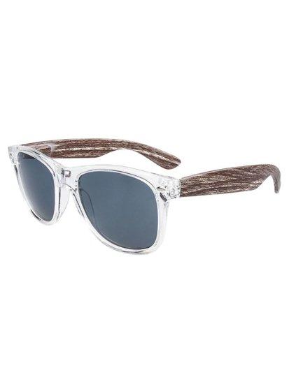 Bolf Herren Sonnenbrille Weiß-Braun COB01