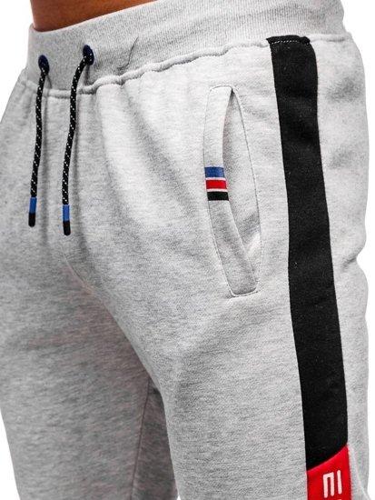 Bolf Herren Sporthose Grau AM63