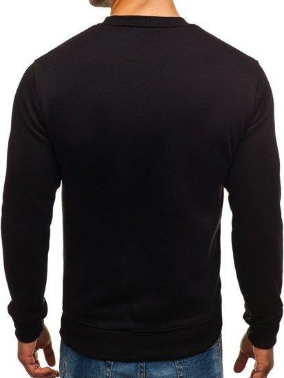 Bolf Herren Sweatshirt mit Motiv Schwarz 0526