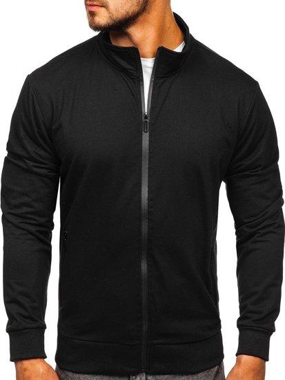 Bolf Herren Sweatshirt mit Reißverschluss Schwarz  JX9832