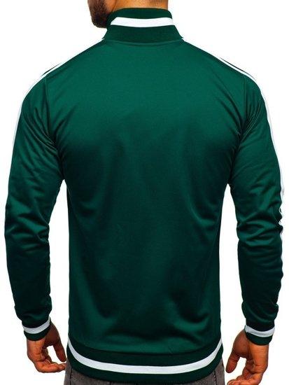 Bolf Herren Sweatshirt mit Reißverschluss retro style Grün  2126