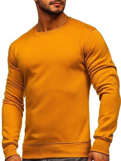 Bolf Herren Sweatshirt ohne Kapuze Camel  2001