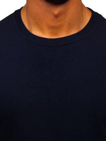 Bolf Herren Sweatshirt ohne Kapuze Dunkelblau  171715