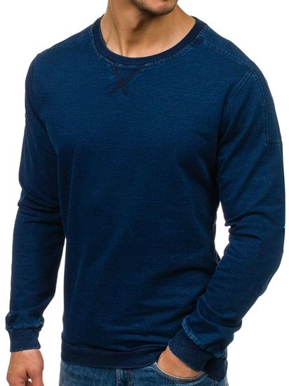 Bolf Herren Sweatshirt ohne Kapuze Dunkelblau 2701