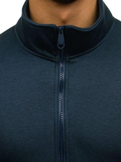 Bolf Herren Sweatshirt ohne Kapuze Dunkelblau BO-02