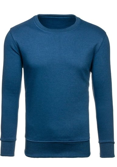 Bolf Herren Sweatshirt ohne Kapuze Indigo  BO-01
