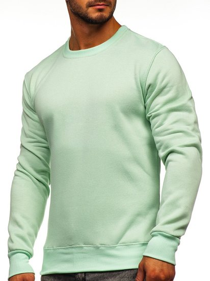 Bolf Herren Sweatshirt ohne Kapuze Mintgrün  2001