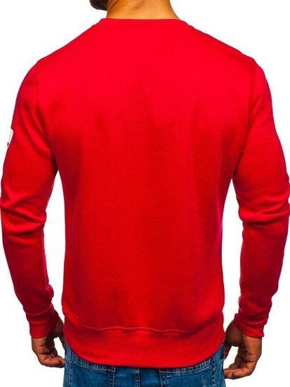 Bolf Herren Sweatshirt ohne Kapuze Rot J88