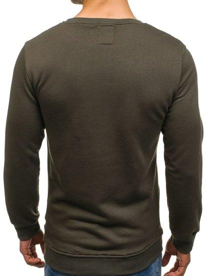 Bolf Herren Sweatshirt ohne Kapuze mit Motiv 9102