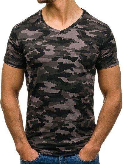 Bolf Herren T-Shirt Dunkelgrau 4525