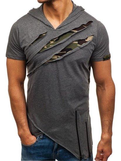 Bolf Herren T-Shirt Dunkelgrau 459