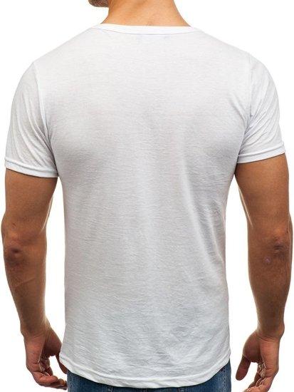 031c93de50fff2 Bolf Herren T-Shirt Weiß 1002