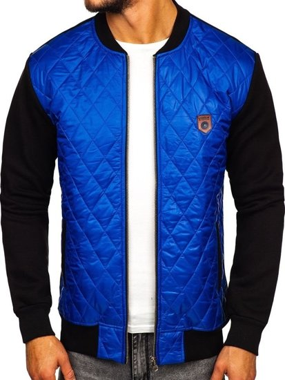buy online 42c63 69b0f Bolf Herren Übergangsjacke Bomberjacke Blau 2569-2