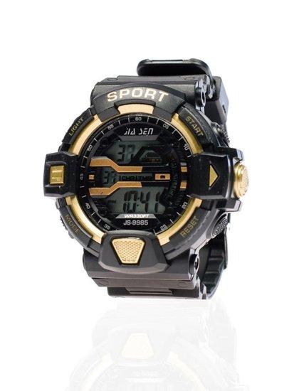 Bolf Herrenuhr Schwarz-Gold 9985