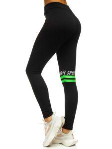 Bolf Damen Leggings mit Motiv Schwarz-Grün  82350