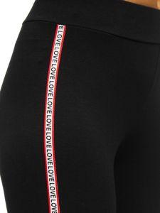 Bolf Damen Leggings mit Motiv Schwarz-Rot  82326