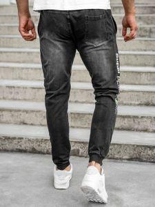 Bolf Herren Jeanshose Jogger Pants Schwarz  KK1100