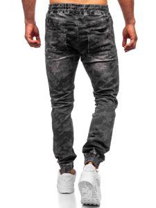 Bolf Herren Jogger Pants Camo Schwarz  RB9486DT