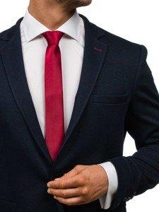 Bolf Herren Krawatte Weinrot K001
