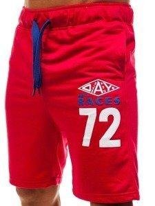 Bolf Herren Kurze Sporthose Rot  EX05-1
