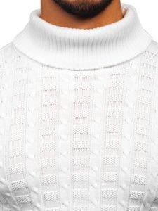 Bolf Herren Pullover Rollkragen Weiß  16