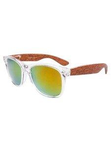 Bolf Herren Sonnenbrille Weiß-Hellbraun COB01