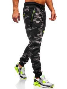 Bolf Herren Sporthose Camouflage Grau TC874