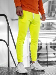 Bolf Herren Sporthose Gelb-Neon  11121