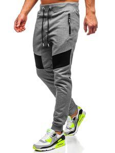 Bolf Herren Sporthose Grau  TC930
