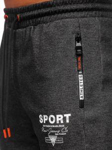 Bolf Herren Sporthose Schwarz-Orange  Q1042