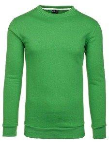Bolf Herren Sweatshirt ohne Kapuze Grün 01