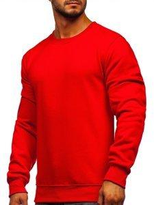 Bolf Herren Sweatshirt ohne Kapuze Rot  2001