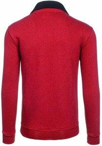 Bolf Herren Sweatshirt ohne Kapuze Weinrot 30S