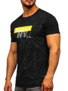 Bolf Herren T-Shirt mit Motiv Schwarz  SS11100
