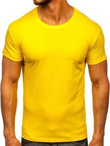 Bolf Herren T-Shirt ohne Motiv Gelb  2005