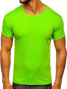 Bolf Herren T-Shirt ohne Motiv Hellgrün  2005